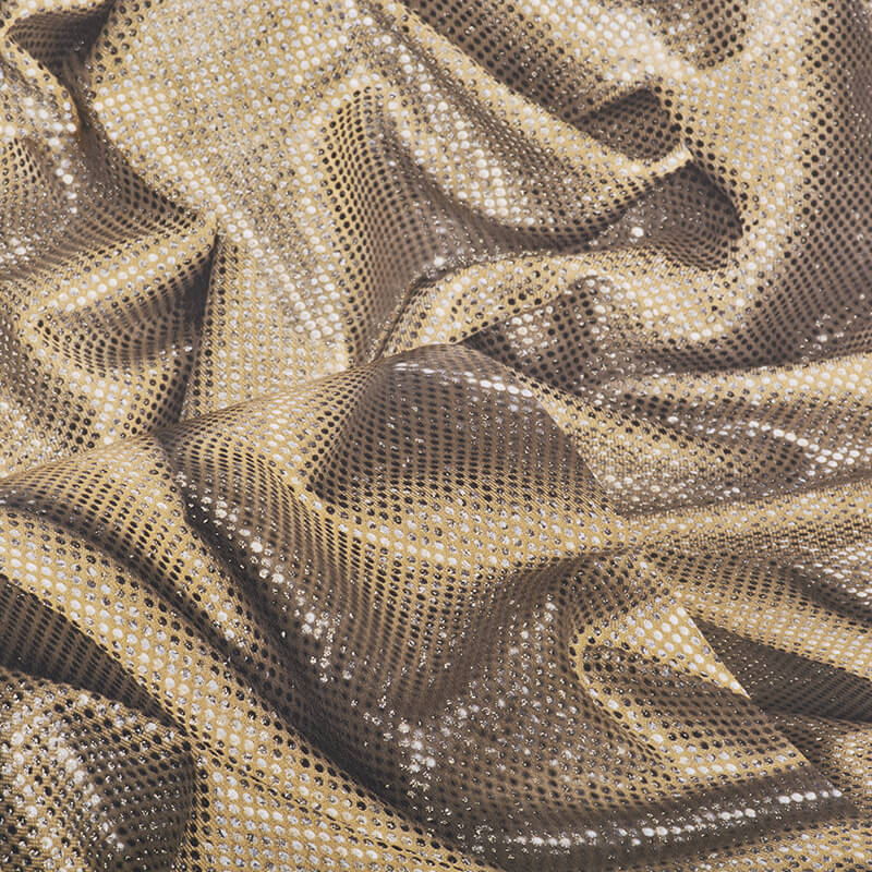 Muriva Faux Crushed Satin Gold Glitter Wallpaper - L14202