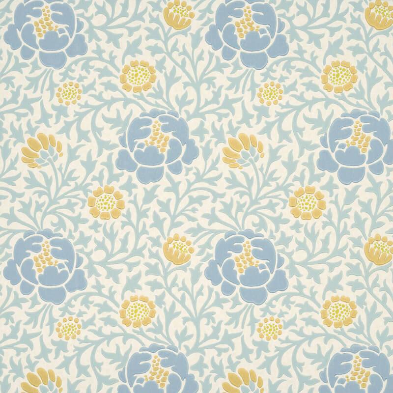 Little Greene Lansdowne Walk Wallpaper in Marigold