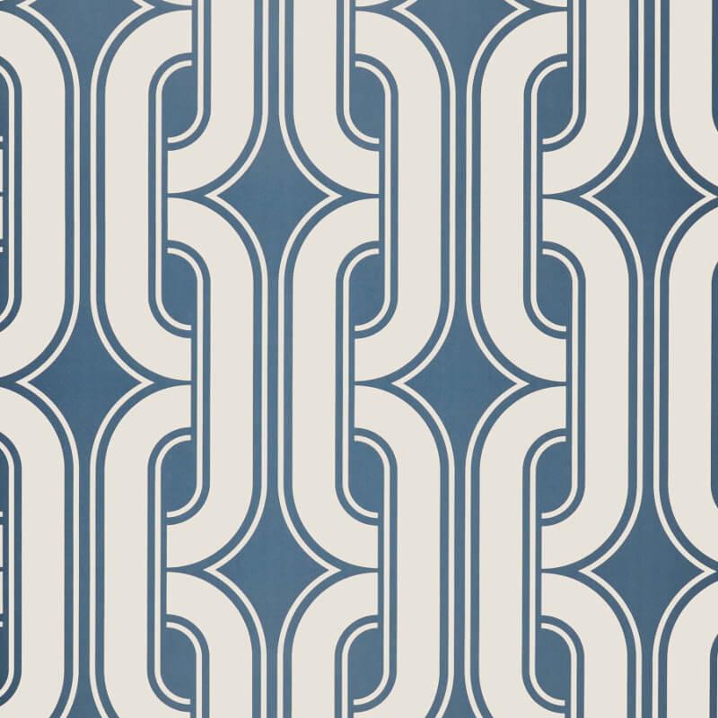 Little Greene Lavaliers Wallpaper in Low Wave