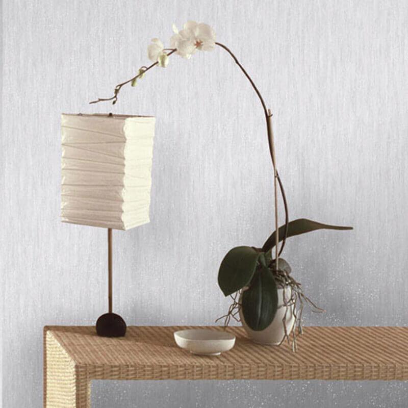 Vymura Panache Plain Grey/Silver Glitter Wallpaper - M0735