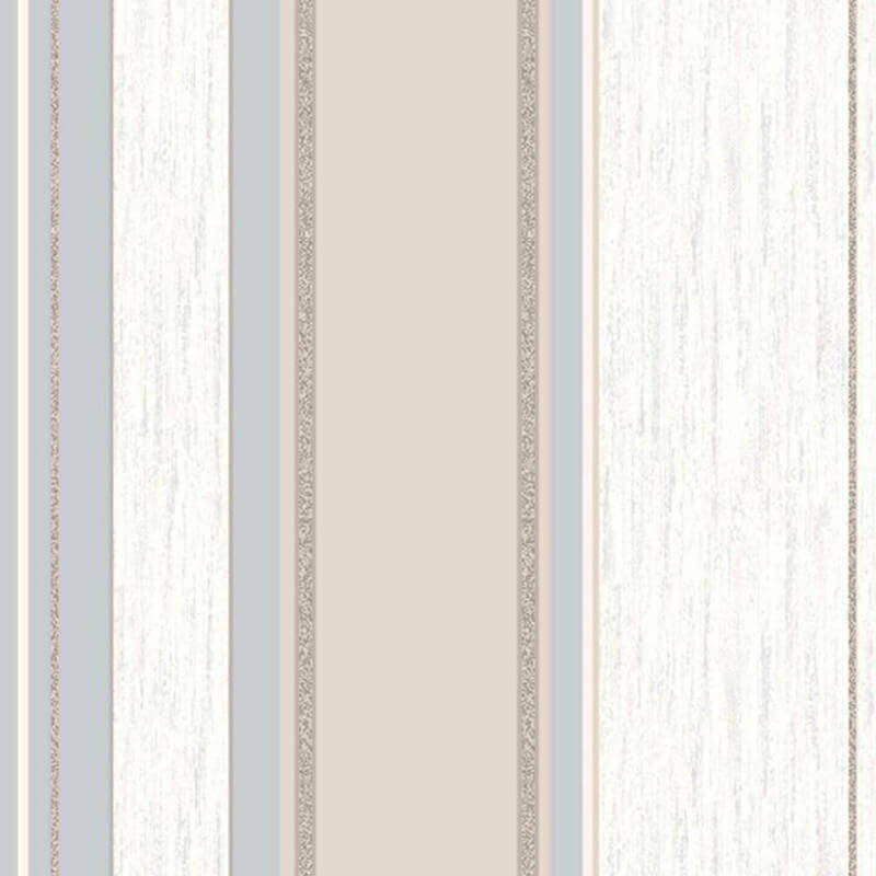 Vymura Synergy Glitter Stripe Wallpaper in Taupe and Silver - M0784