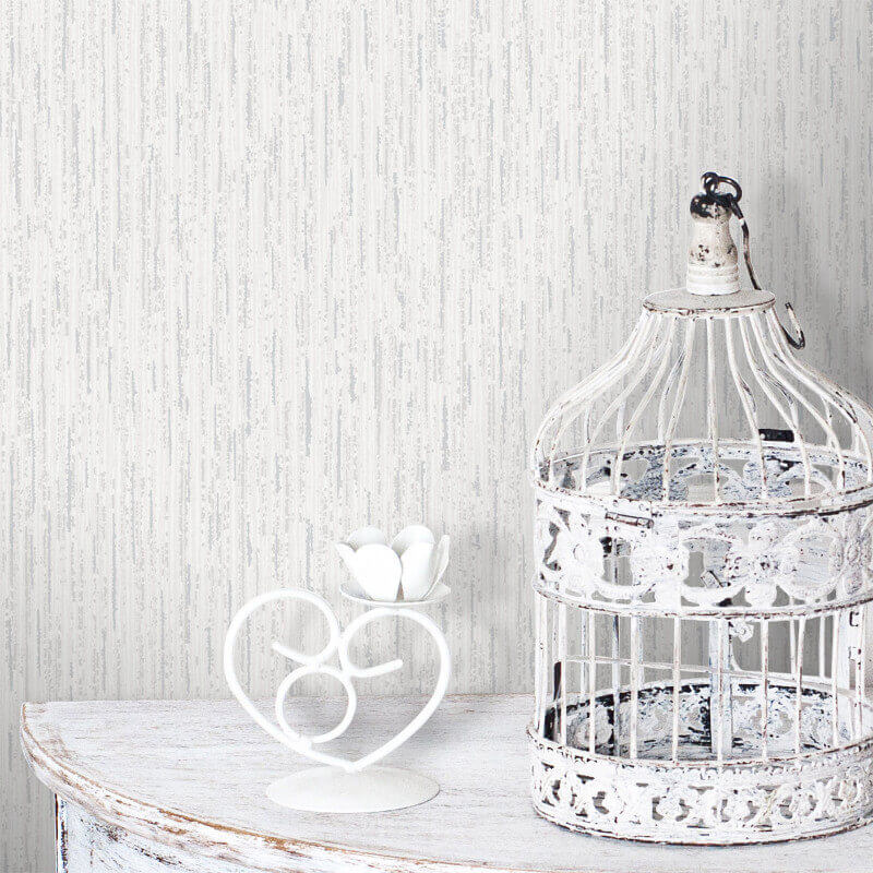 Crown Alberto Sheena Snow White Glitter Wallpaper - M0814