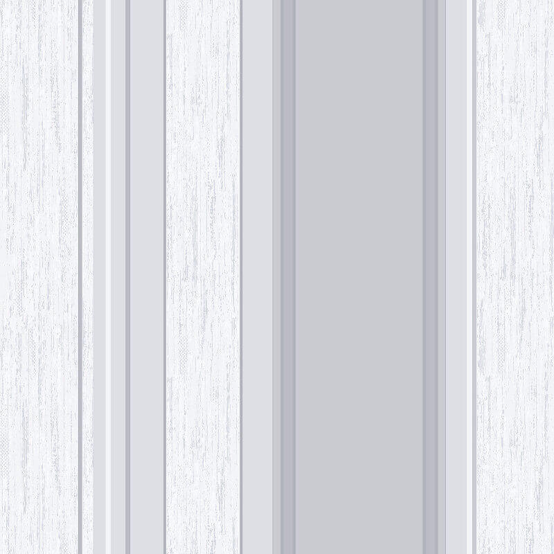 Vymura Synergy Glitter Stripe Wallpaper in Dove Grey and Silver - M0853