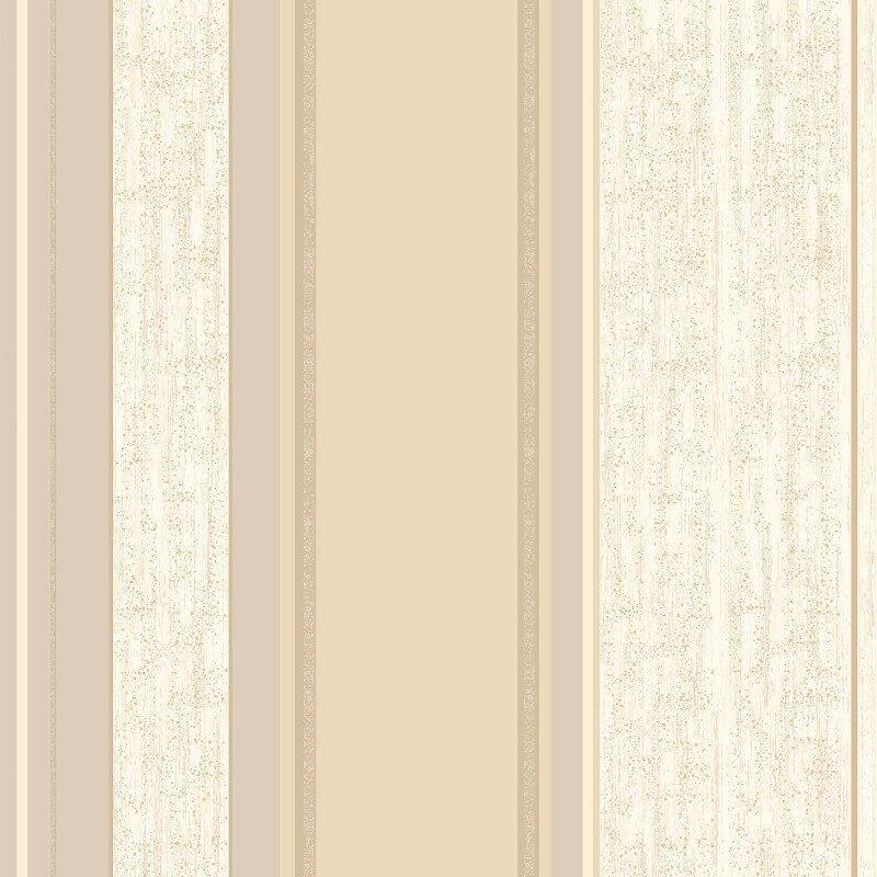Vymura Synergy Glitter Stripe Wallpaper in Soft Gold - M0869