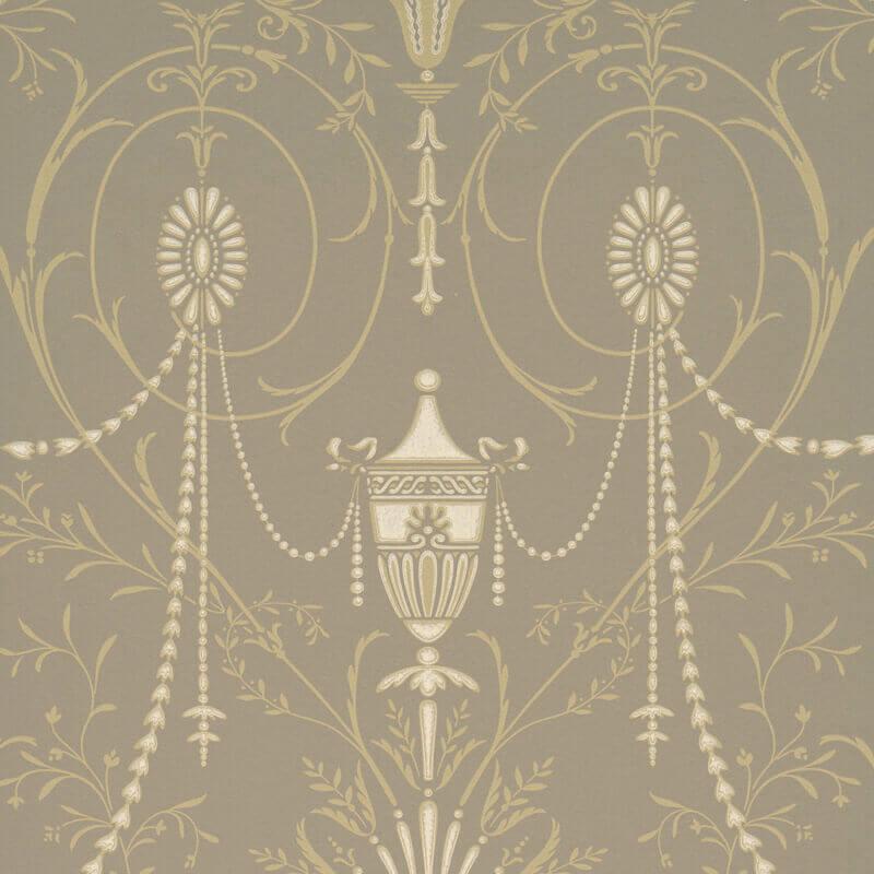Little Greene Marlborough Wallpaper in Boutique
