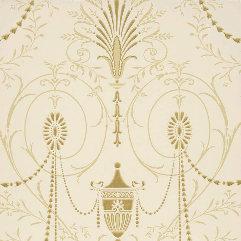 Little Greene Marlborough Wallpaper in Jewel