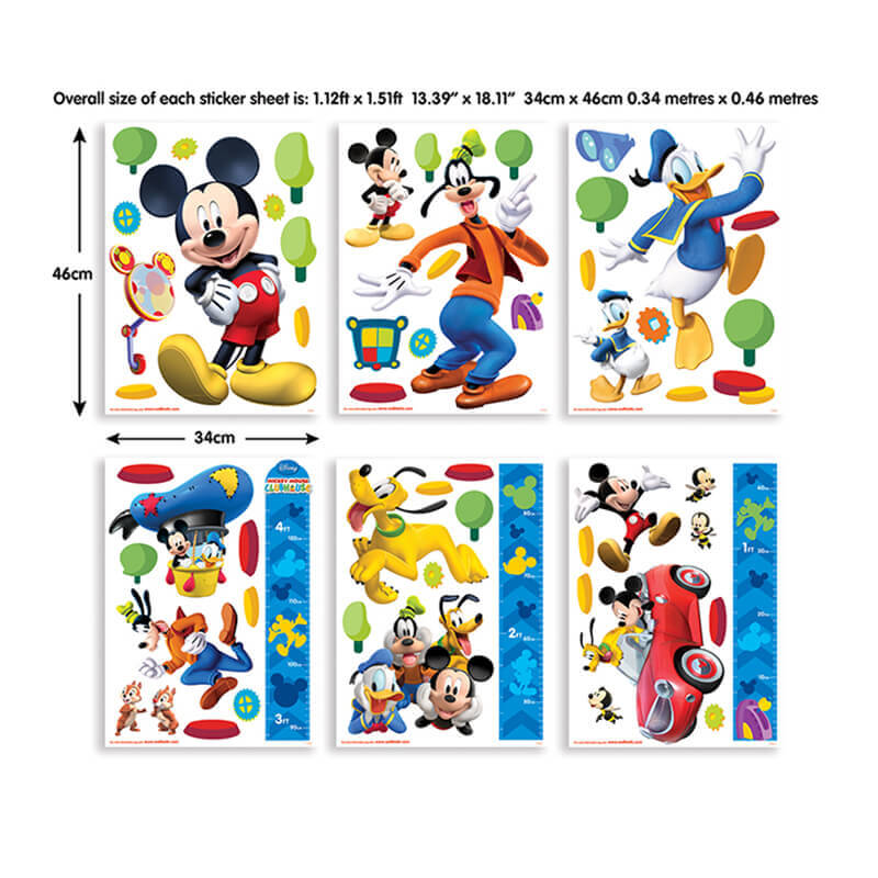Walltastic Disney Mickey Mouse Clubhouse Room Decor Kit - 41448