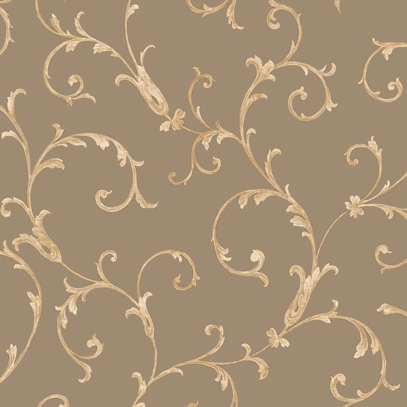 Muriva Acanthus Scroll Bronze Wallpaper - 20592