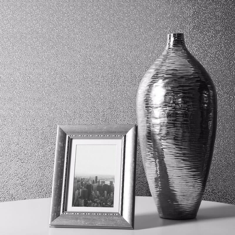Muriva Amelia Texture Silver Metallic Wallpaper - 701430