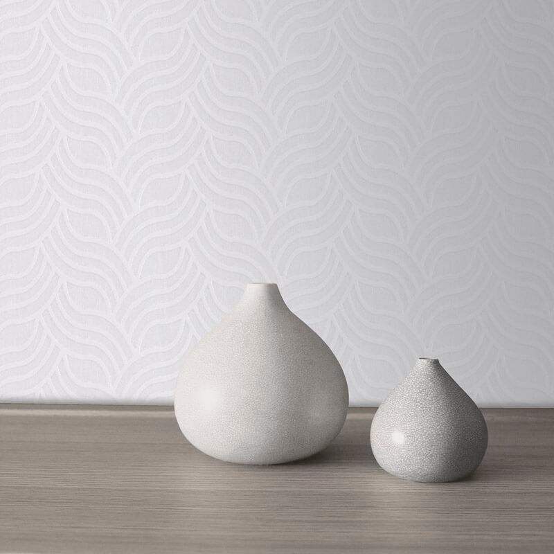 Muriva Art Deco Silver/Grey Metallic Wallpaper - 701373