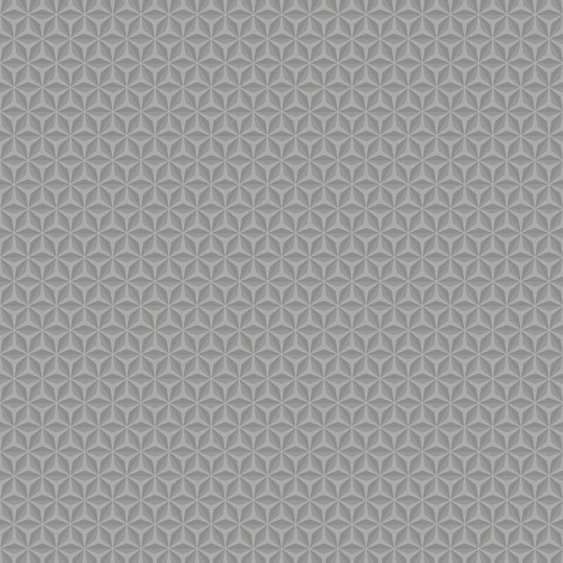 Muriva Aspen Geo Grey Metallic Wallpaper - L42419