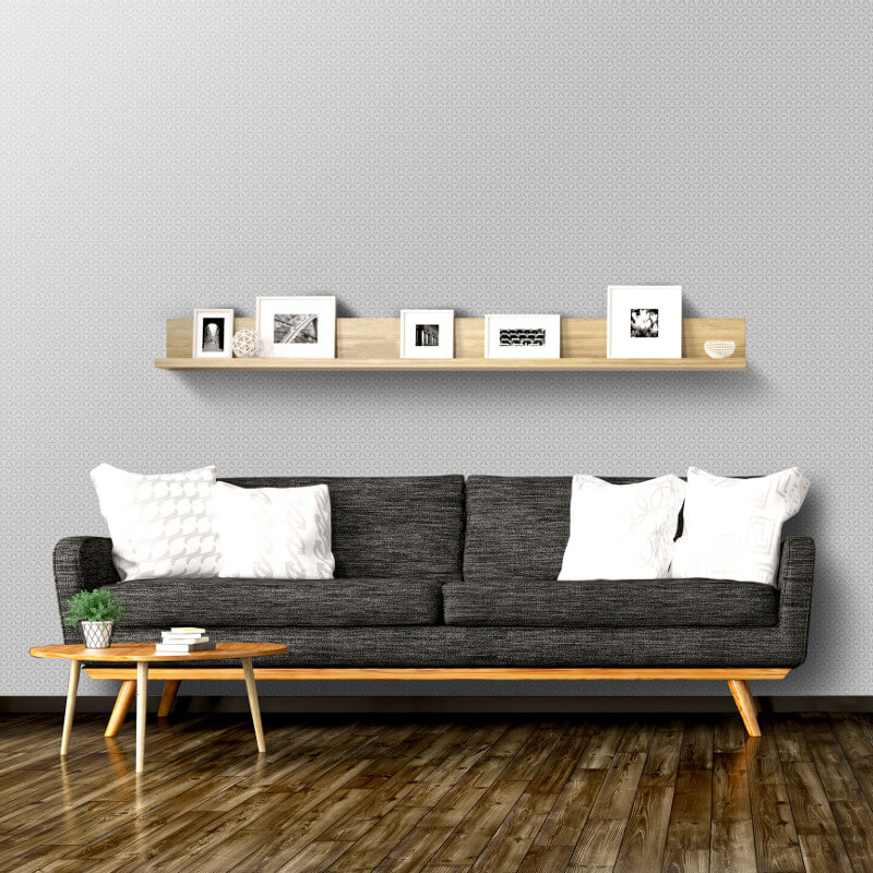 Muriva Aspen Geo Silver Metallic Wallpaper - L42409