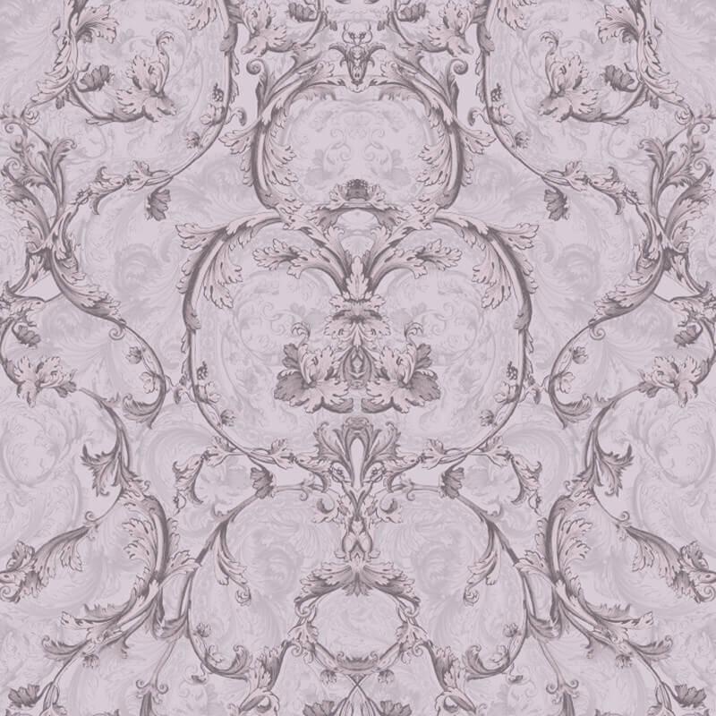 Muriva Baroque Scroll Glitter Wallpaper in Mink - 701346
