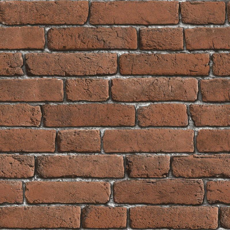 Muriva Brick 3D Effect Red Wallpaper - J30108
