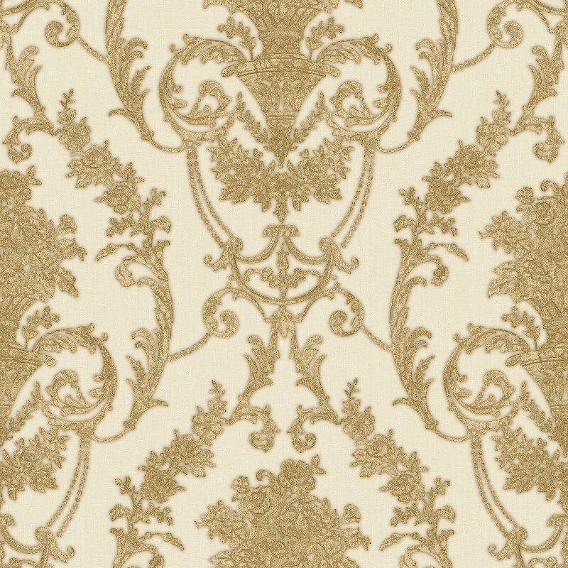 Muriva Bronte Italian Damask Gold Metallic Wallpaper - 22904