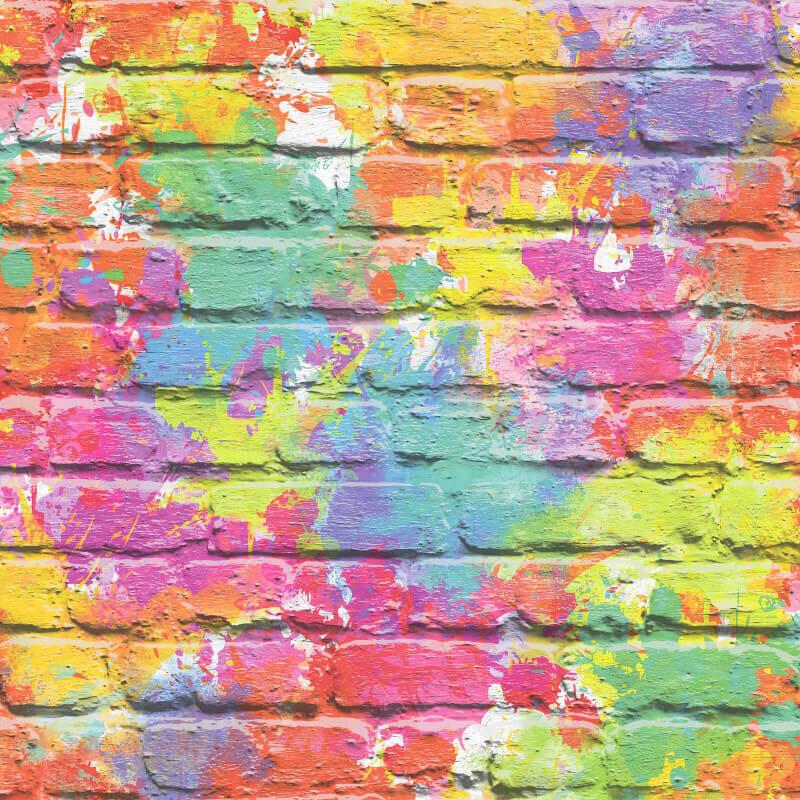 Muriva Camouflage Brick Multi Wallpaper L33505