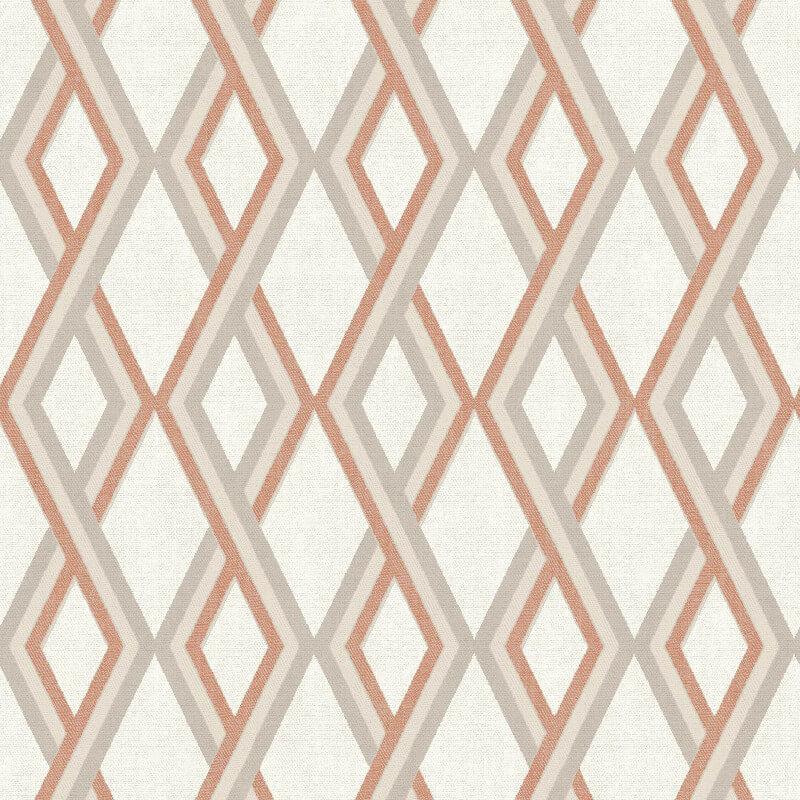 Muriva Carus Geo Orange Wallpaper - L355-05