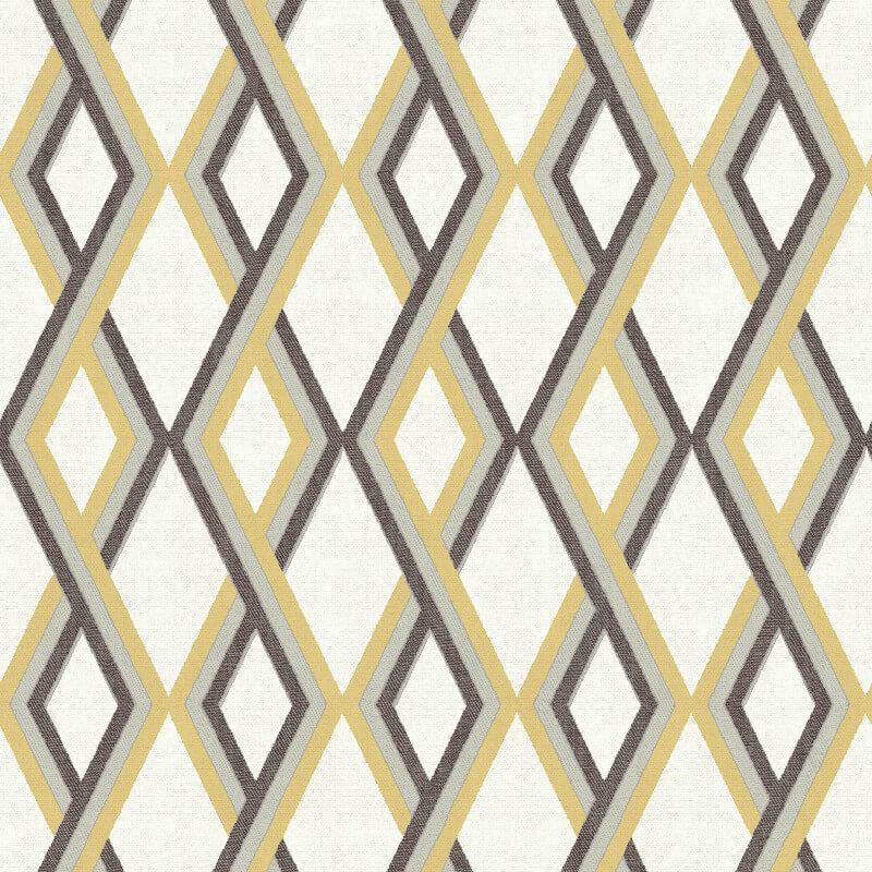 Muriva Carus Geo Yellow Wallpaper - L355-02
