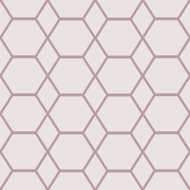 Muriva Casca Geometric Rose Gold Metallic Wallpaper - 147503