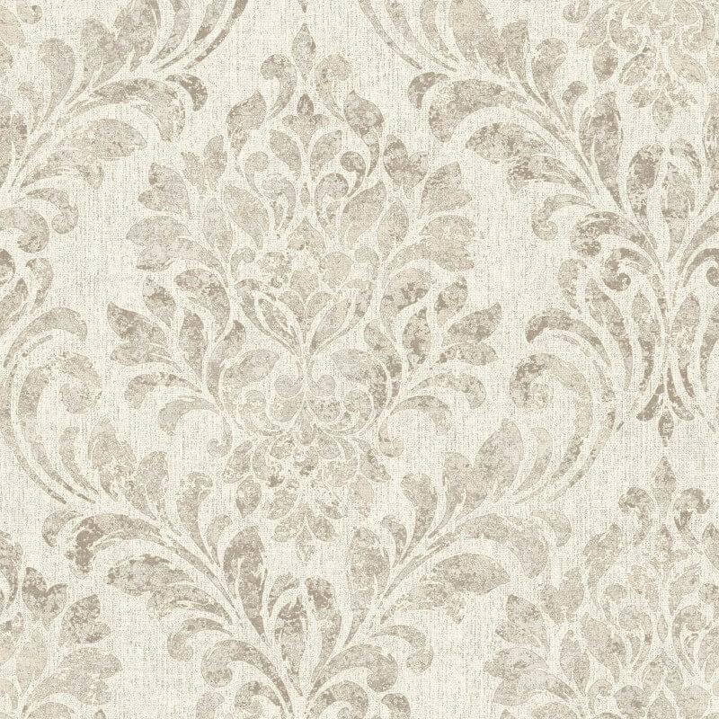 Muriva Clara Damask Textured Brown Metallic Wallpaper - L37207