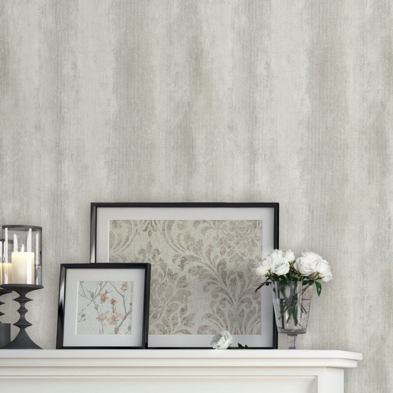 Muriva Clara Ombre Stripe Textured Grey Wallpaper - L21109