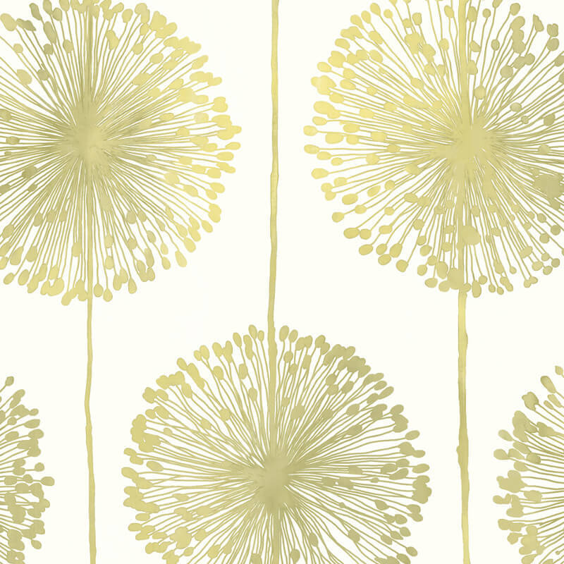Muriva Dandelion Floral Green Wallpaper - J04204