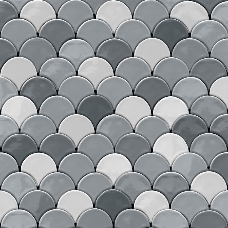 Muriva Draco Geometric Blue/Grey Wallpaper - L59109