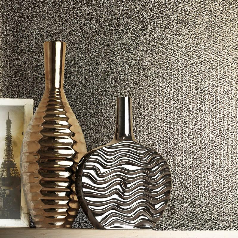 Muriva Eli Texture Gold Metallic Wallpaper - 701522