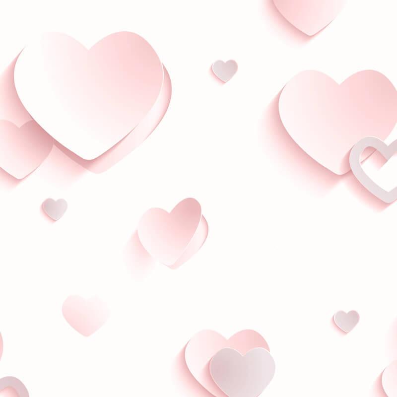 Muriva Gallery Hearts Pink Glitter Wallpaper - J92603