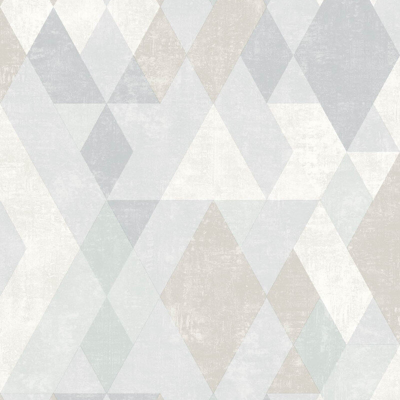 Muriva Hectar Geometric Blue/Multi Wallpaper - L59807