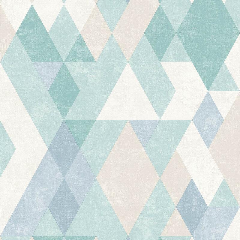 Muriva Hectar Geometric Teal/Multi Wallpaper - L59801