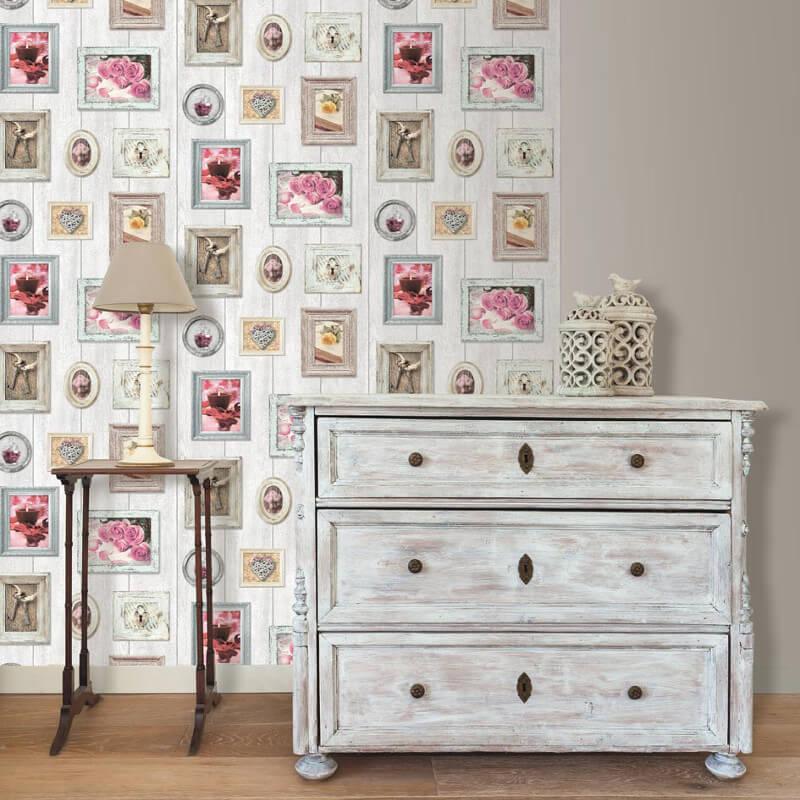 Muriva home sweet home frames wallpaper 102566 for Wallpaper home sweet home