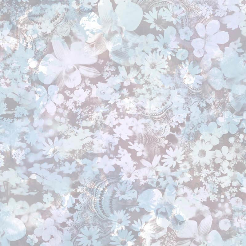 Muriva Karina Floral Blue Wallpaper - L39101