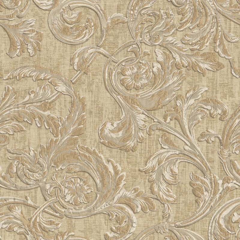 Muriva Kastra Scroll Brown Wallpaper - 20505