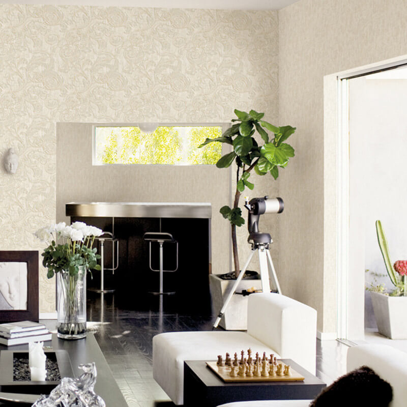 Muriva Kastra Scroll Cream Wallpaper - 20501