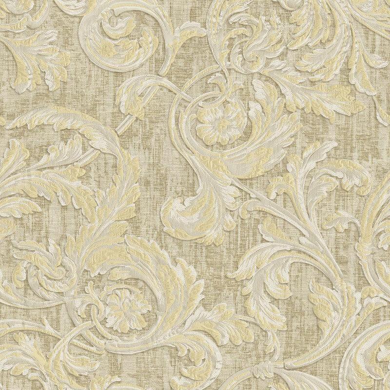 Muriva Kastra Scroll Gold Wallpaper - 20500