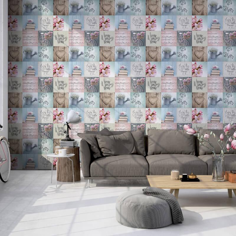Muriva Lazy Days Multi Wallpaper - 102564