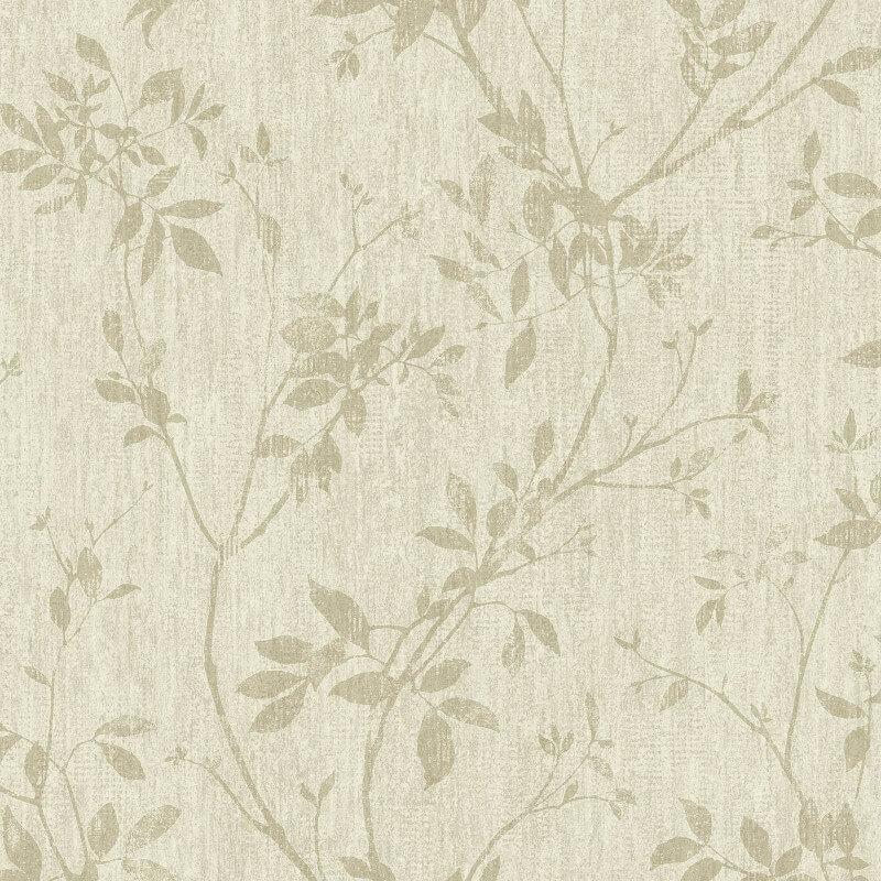 Muriva Leander Floral Gold Foil Metallic Wallpaper - A05707