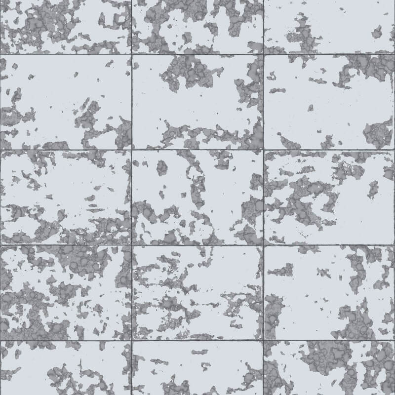 Muriva Loran Tile Pattern Silver Foil Metallic Wallpaper - L62609