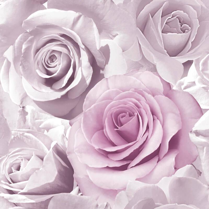 Muriva Madison Rose Floral Amethyst Glitter Wallpaper - 139522
