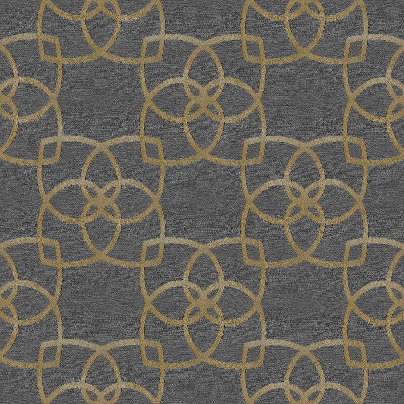 Muriva Marrakesh Geo Gold/Grey Meatallic Wallpaper - 601537