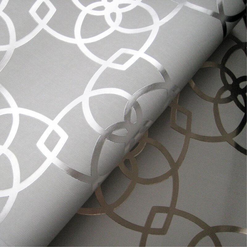 Muriva Marrakesh Geometric Silver/Grey Metallic Wallpaper - 601536