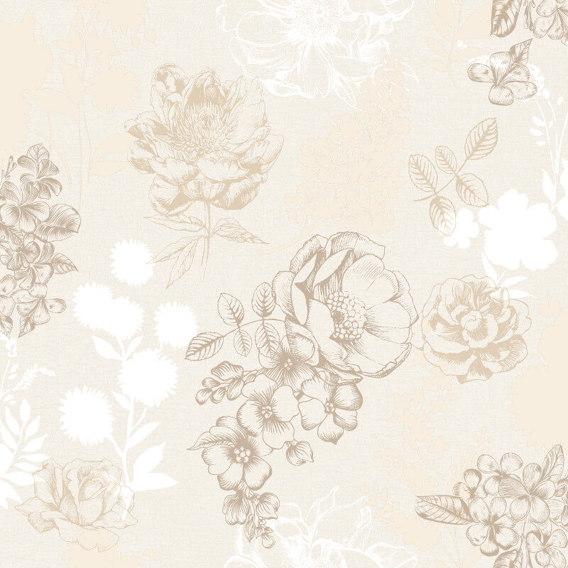 Muriva Mila Floral Cream Wallpaper - 140503