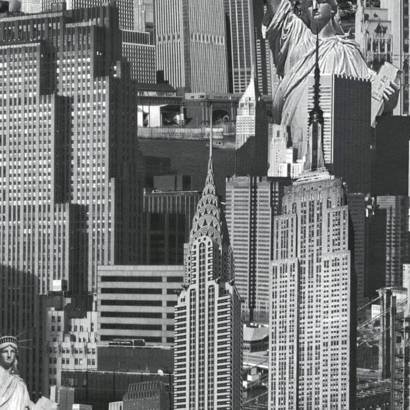 Muriva New York City Black & White Wallpaper - 102503