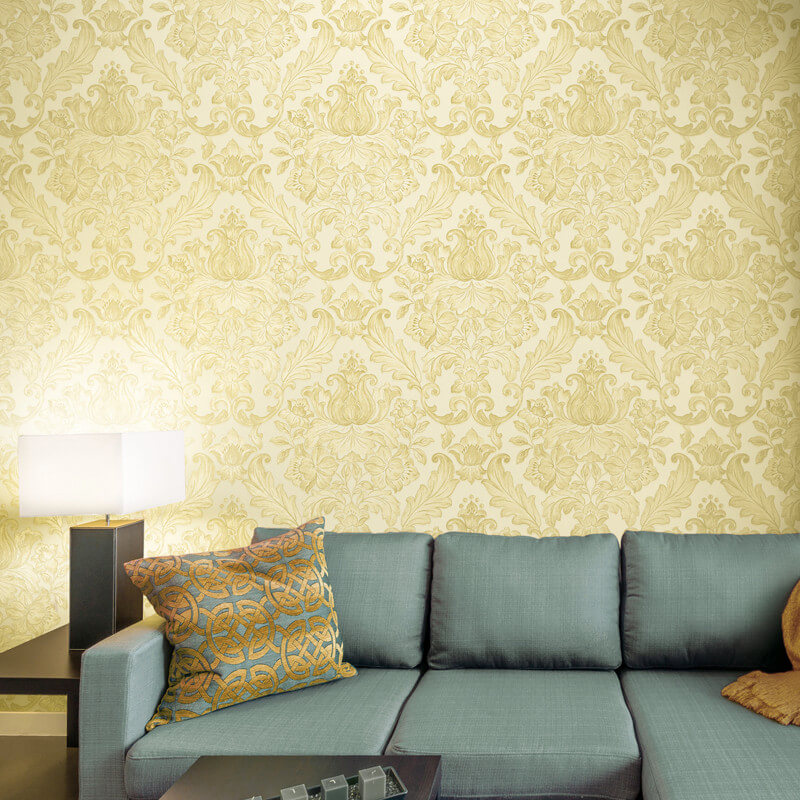 Muriva Rana Damask Cream Wallpaper - 20571