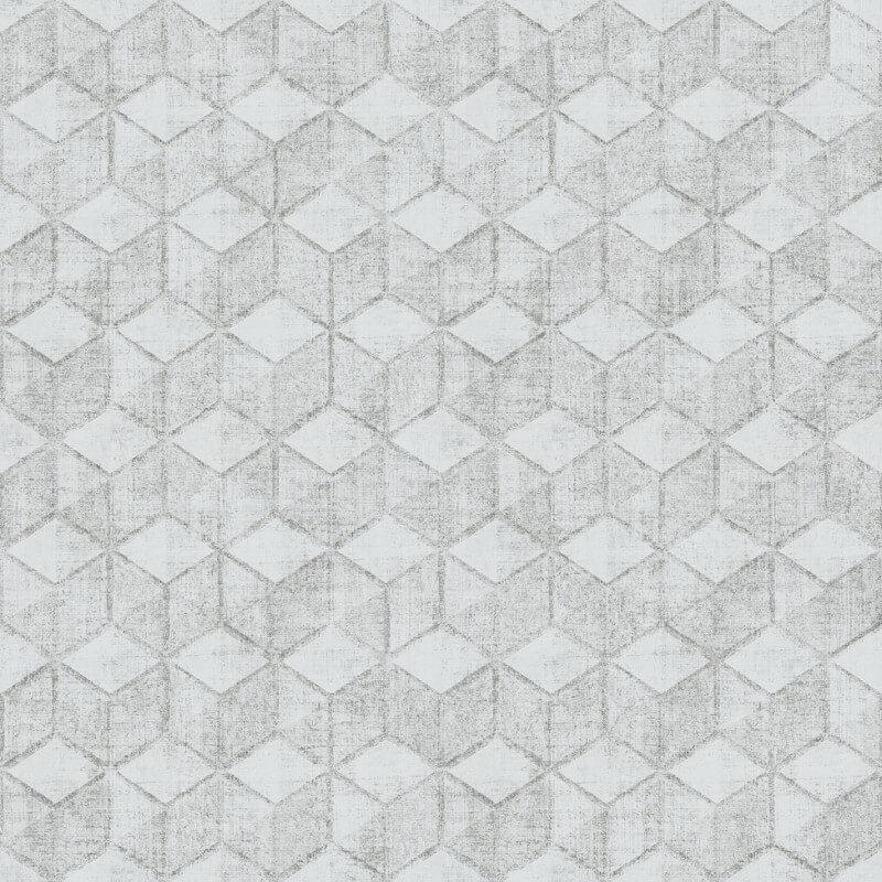Muriva Renley Geometric Grey Wallpaper - 92719 / L48509