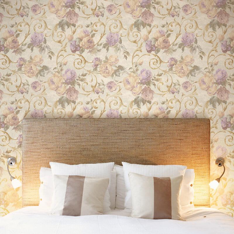 Muriva Rhea Floral Purple Wallpaper - 20552
