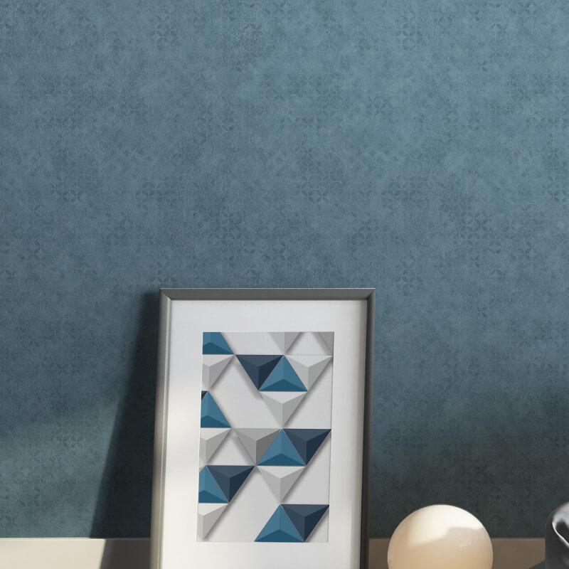 Muriva Roan Geometric Circles Blue Wallpaper - L57601
