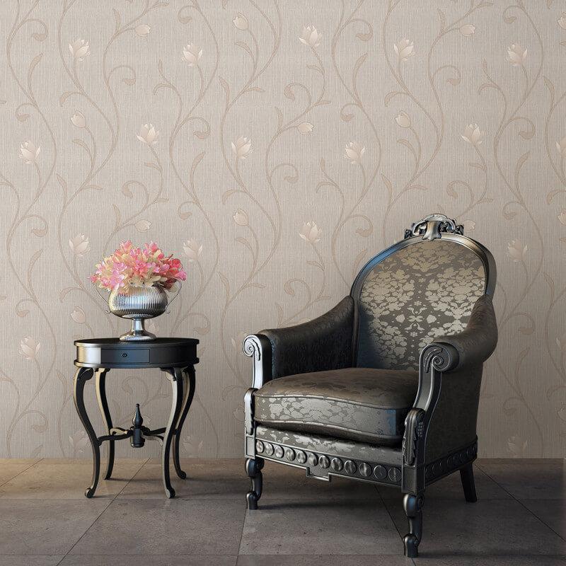 Muriva Serafina Floral Trail Glitter Wallpaper in Bronze - 701324