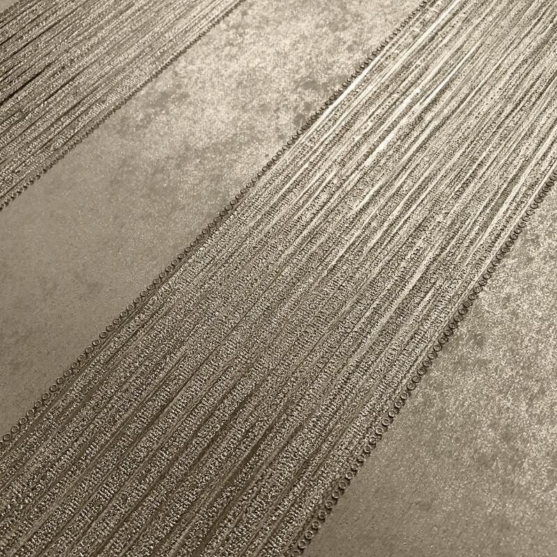 Muriva Serena Stripe Gold Metallic Wallpaper - 701454